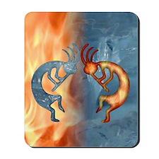 Kokopelli Fire  Ice Ipad Mousepad