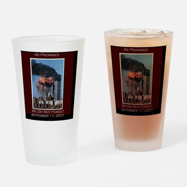 WeNotForget911LRG Drinking Glass