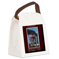 WeNotForget911LRG Canvas Lunch Bag