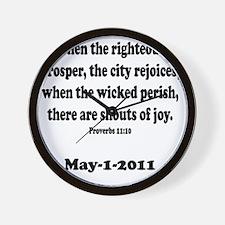 osama_proverb 11 Wall Clock