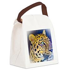 leopard BIG Canvas Lunch Bag