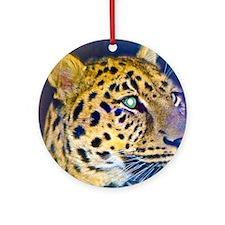 leopard BIG Round Ornament