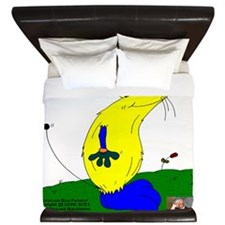 Gulliver The Rat In Banana And Sapphire King Duvet