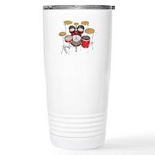 Drum Kit: Red Finish Travel Mug