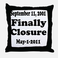 Osama_closure Throw Pillow