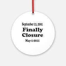 Osama_closure Round Ornament