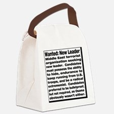 wanted new leader Canvas Lunch Bag