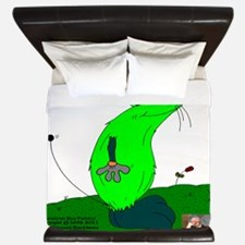 Gulliver The Rat In Lime And Anthracite King Duvet