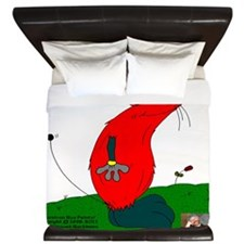 Gulliver The Rat In Red And Anthracite King Duvet