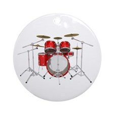 Drum Kit: Red Finish Ornament (Round)