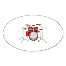 Drum Kit: Red Finish Decal