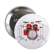 """Drum Kit: Red Finish 2.25"""" Button (10 pack)"""