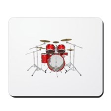 Drum Kit: Red Finish Mousepad