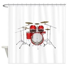 Drum Kit: Red Finish Shower Curtain