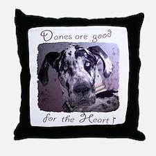 Great Danes Heart Throw Pillow
