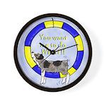 Silly Aussie Agility Wall Clock