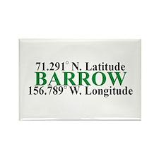 Barrow Lat-Long Rectangle Magnet (100 pack)