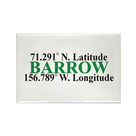 Barrow Lat-Long Rectangle Magnet (10 pack)