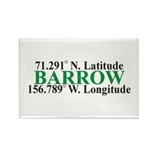 Barrow Lat-Long Rectangle Magnet