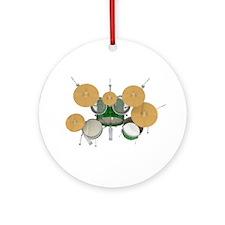 Drum Kit: Green Finish Ornament (Round)