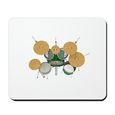 Drum Kit: Green Finish Mousepad