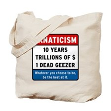 Fanaticism_white_big Tote Bag