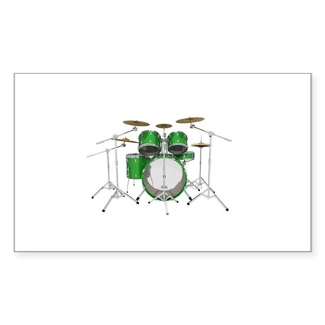 Drum Kit: Green Finish Sticker