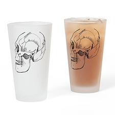 stone age skull Drinking Glass