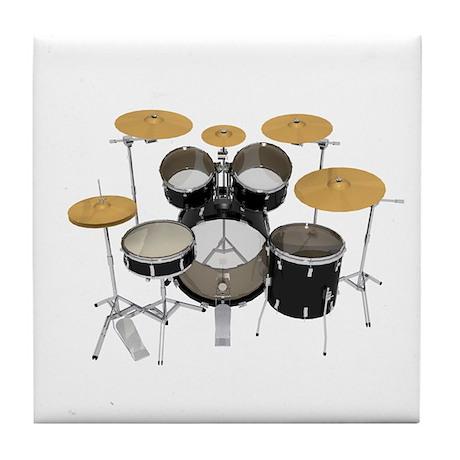 Drum Kit: Black Finish Tile Coaster
