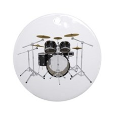 Drum Kit: Black Finish Ornament (Round)