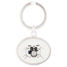 Drum Kit: Black Finish Keychains
