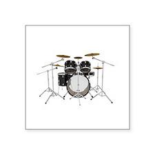 Drum Kit: Black Finish Sticker