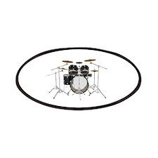 Drum Kit: Black Finish Patches