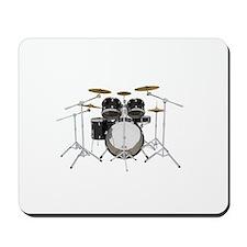 Drum Kit: Black Finish Mousepad