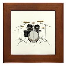 Drum Kit: Black Finish Framed Tile