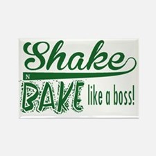 ShakenBake:like a boss Rectangle Magnet