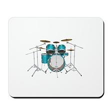 Drum Kit: Aqua Finish Mousepad