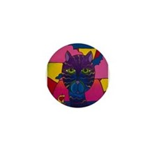 Hip Cat Mini Button