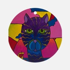 Hip Cat Ornament (Round)