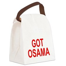 Obama Osama Canvas Lunch Bag