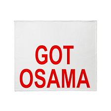 Obama Osama Throw Blanket