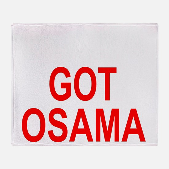 Obama Osama Throw Blanket