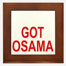 Obama Osama Framed Tile