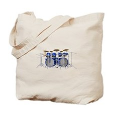 Large Drum Kit: Blue Tote Bag