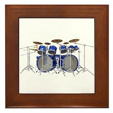 Large Drum Kit: Blue Framed Tile
