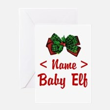 Personalized Baby Elf Greeting Card