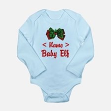 Personalized Baby Elf Long Sleeve Infant Bodysuit
