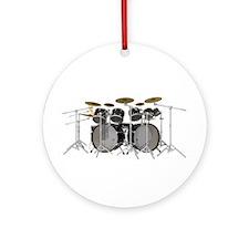 Large Drum Kit: Black Ornament (Round)