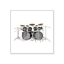 Large Drum Kit: Black Sticker