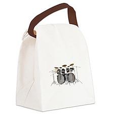 Large Drum Kit: Black Canvas Lunch Bag